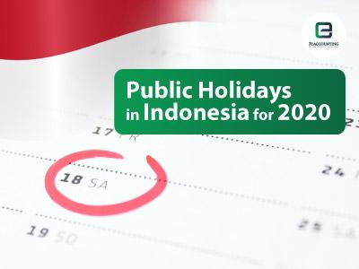 Indonesia Public Holidays 2020