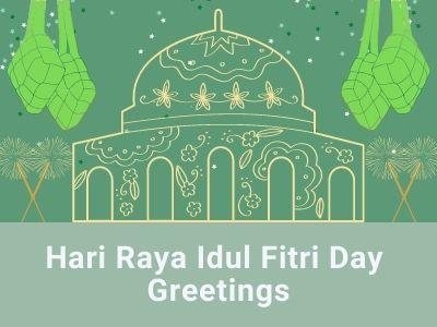 Hari Raya Idul Fitri Greetings